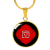 Root Chakra (Muladhara) - 18k Gold Finished Luxury Necklace