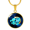 Zodiac Sign Aquarius - 18k Gold Finished Luxury Necklace