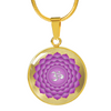 Crown Chakra (Sahasrara) v2 - 18k Gold Finished Luxury Necklace