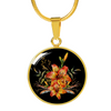 Tiger Lily Bouquet v2 - 18k Gold Finished Luxury Necklace