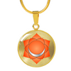 Sacral Chakra (Swadhisthana) v2 - 18k Gold Finished Luxury Necklace