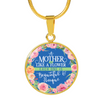 A Mother Is Like A Flower - 18k Gold Finished Luxury Necklace