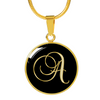 Initial A - 18k Gold Finished Luxury Necklace