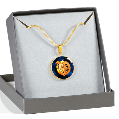 Zodiac Sign Aries - 18k Gold Finished Luxury Necklace