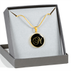Initial M - 18k Gold Finished Luxury Necklace