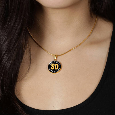 Heart In South Dakota - 18k Gold Finished Luxury Necklace
