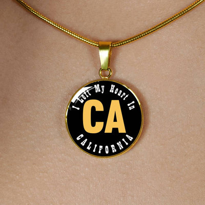 Heart In California - 18k Gold Finished Luxury Necklace