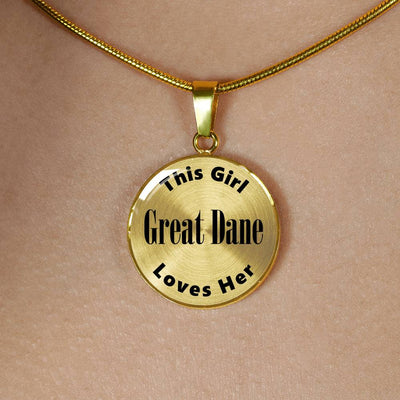 Great Dane v2 - 18k Gold Finished Luxury Necklace