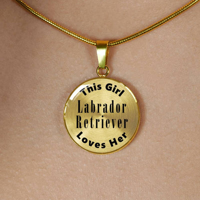 Labrador Retriever - 18k Gold Finished Luxury Necklace