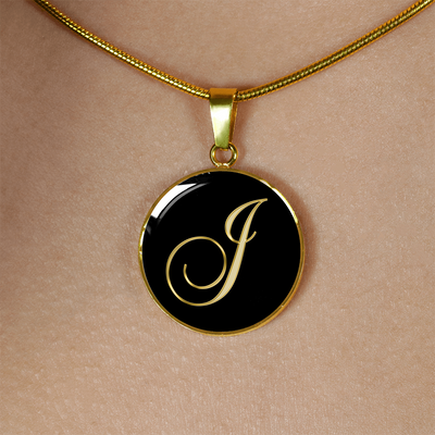 Initial J - 18k Gold Finished Luxury Necklace