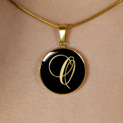 Initial O - 18k Gold Finished Luxury Necklace