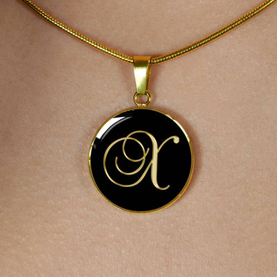 Initial X - 18k Gold Finished Luxury Necklace