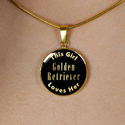Golden Retriever v1 - 18k Gold Finished Luxury Necklace