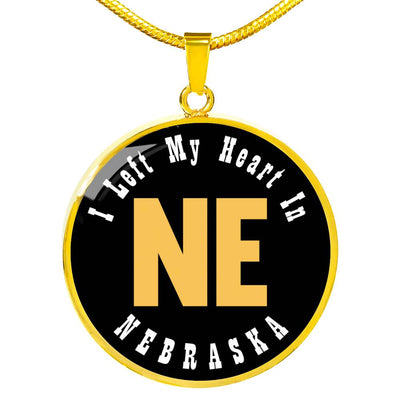 Heart In Nebraska - 18k Gold Finished Luxury Necklace