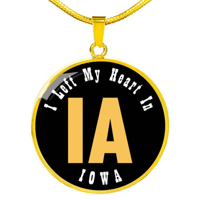 Heart In Iowa - 18k Gold Finished Luxury Necklace