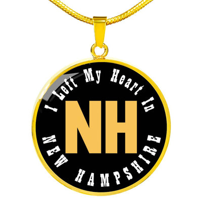 Heart In New Hampshire - 18k Gold Finished Luxury Necklace