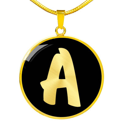 Initial A v2b - 18k Gold Finished Luxury Necklace
