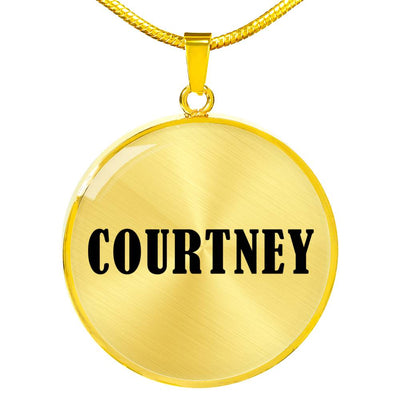 Courtney v01 - 18k Gold Finished Luxury Necklace