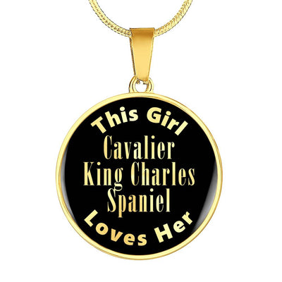Cavalier King Charles Spaniel - 18k Gold Finished Luxury Necklace