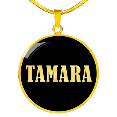 Tamara v02 - 18k Gold Finished Luxury Necklace