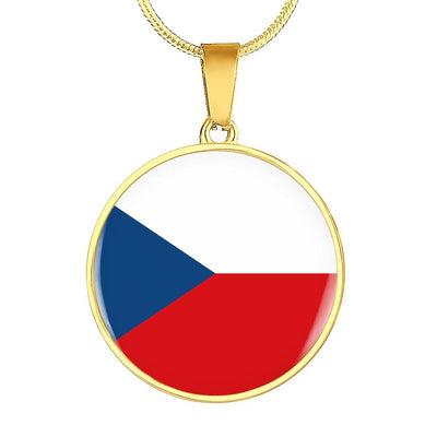 Czech Flag - 18k Gold Finished Luxury Necklace