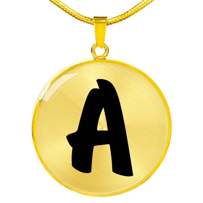 Initial A v1b - 18k Gold Finished Luxury Necklace