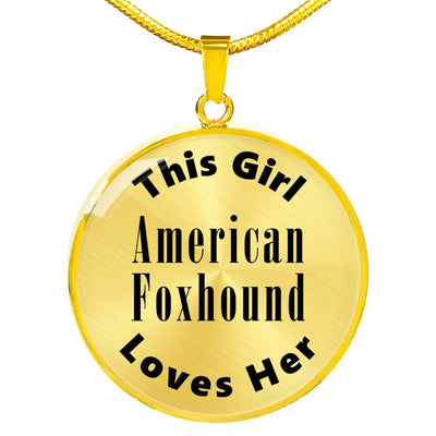 American Foxhound - 18k Gold Finished Luxury Necklace