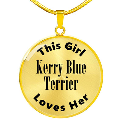 Kerry Blue Terrier - 18k Gold Finished Luxury Necklace