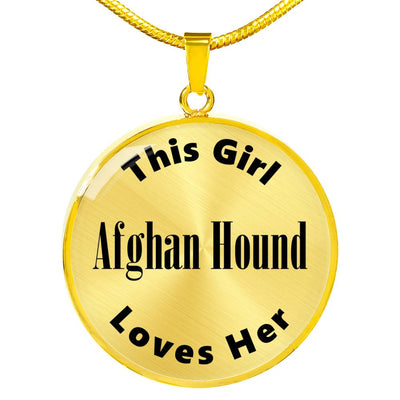 Afghan Hound - 18k Gold Finished Luxury Necklace