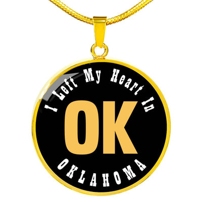 Heart In Oklahoma - 18k Gold Finished Luxury Necklace