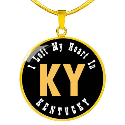Heart In Kentucky - 18k Gold Finished Luxury Necklace