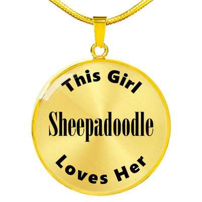 Sheepadoodle - 18k Gold Finished Luxury Necklace