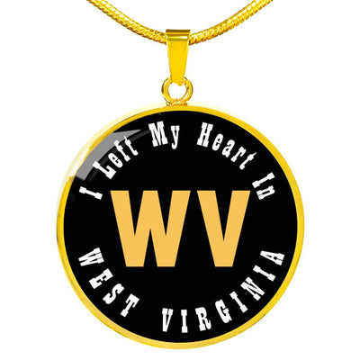 Heart In West Virginia - 18k Gold Finished Luxury Necklace