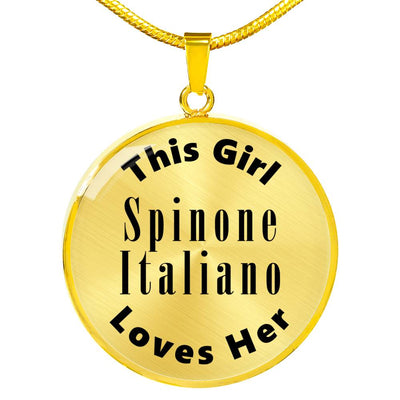 Spinone Italiano - 18k Gold Finished Luxury Necklace