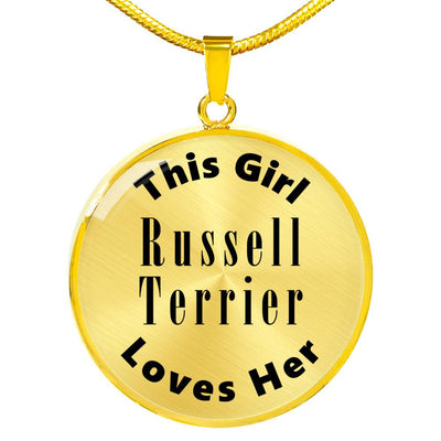 Russell Terrier - 18k Gold Finished Luxury Necklace