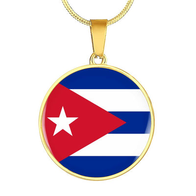 Cuban Flag - 18k Gold Finished Luxury Necklace