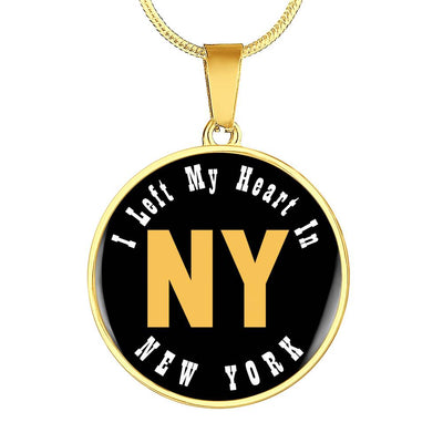 Heart In New York - 18k Gold Finished Luxury Necklace