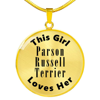 Parson Russell Terrier - 18k Gold Finished Luxury Necklace