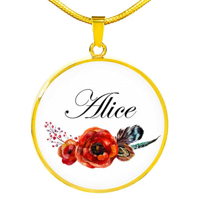 Alice v7 - 18k Gold Finished Luxury Necklace