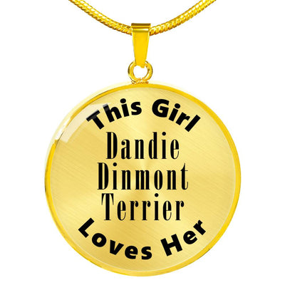 Dandie Dinmont Terrier - 18k Gold Finished Luxury Necklace