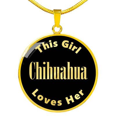 Chihuahua - 18k Gold Finished Luxury Necklace