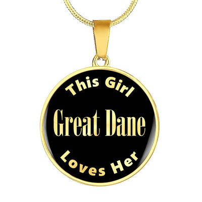 Great Dane - 18k Gold Finished Luxury Necklace
