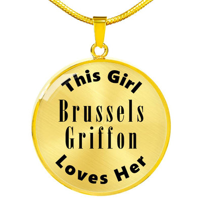 Brussels Griffon - 18k Gold Finished Luxury Necklace