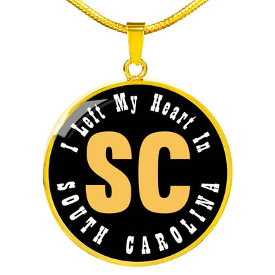 Heart In South Carolina - 18k Gold Finished Luxury Necklace