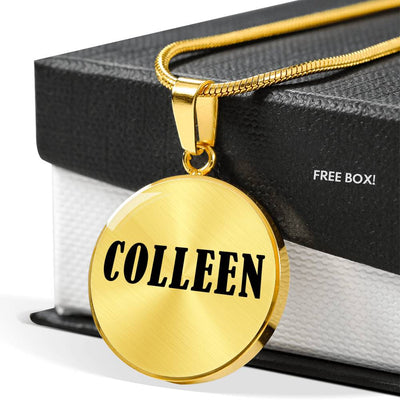 Colleen v01 - 18k Gold Finished Luxury Necklace