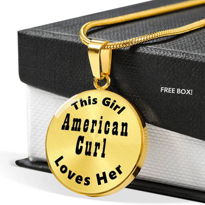 American Curl - 18k Gold Finished Luxury Necklace