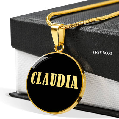 Claudia v02 - 18k Gold Finished Luxury Necklace