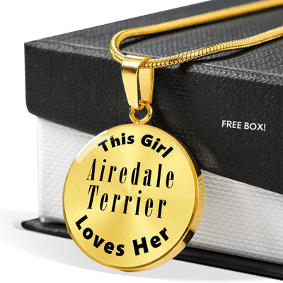 Airedale Terrier - 18k Gold Finished Luxury Necklace