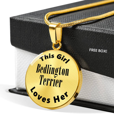 Bedlington Terrier - 18k Gold Finished Luxury Necklace