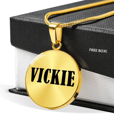 Vickie v01 - 18k Gold Finished Luxury Necklace